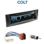 Poste 1-DIN CD/USB/Bluetooth Mitsubishi Colt de 01/2004 à 10/2008 - autoradio JVC et Kenwood au choix