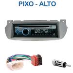 Poste 1-DIN CD/USB/Bluetooth Nissan Pixo & Suzuki Alto depuis 2009 - autoradio JVC et Kenwood au choix