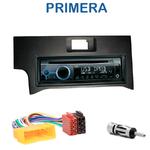 Poste 1-DIN CD/USB/Bluetooth Nissan Primera de 09/1999 à 05/2002 - autoradio JVC et Kenwood au choix