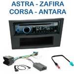 Poste 1-DIN CD/USB/Bluetooth Opel Astra de 04/2004 à 11/2010, Corsa depuis 10/2006, Zafira de 07/2005 à 2012, Antara depuis 2006 - autoradio JVC et Kenwood au choix