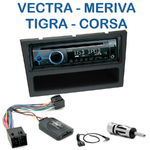 Poste 1-DIN CD/USB/Bluetooth Opel Agila, Combo, Corsa, Meriva, Omega, Signum, Tigra Twin Top, Vectra & Vivaro - autoradio JVC et Kenwood au choix