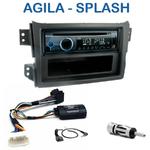 Poste 1-DIN CD/USB/Bluetooth Opel Agila & Suzuki Splash depuis 2008 - autoradio JVC et Kenwood au choix