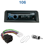Poste 1-DIN CD/USB/Bluetooth Peugeot 106 de 09/1991 à 2004 - autoradio JVC et Kenwood au choix