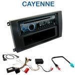 Poste 1-DIN CD/USB/Bluetooth Porsche Cayenne de 2002 à 2010 - autoradio JVC et Kenwood au choix