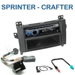 Poste 1-DIN CD/USB/Bluetooth Mercedes Sprinter & Volkswagen Crafter (autoradio Audio 10 d'origine) - autoradio JVC et Kenwood au choix