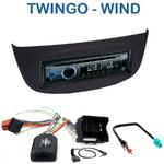 Autoradio Clarion Renault Twingo II depuis 2007 & Wind depuis 09/2010 (façade beige ou noire) - CZ215E, FZ502E ou CZ315E au choix