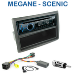 Poste 1-DIN CD/USB/Bluetooth Renault Megane II & Scenic II de 2002 à 2009 - autoradio JVC et Kenwood au choix