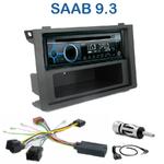 Poste 1-DIN CD/USB/Bluetooth Saab 9-3 depuis 2006 - autoradio JVC et Kenwood au choix