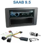 Poste 1-DIN CD/USB/Bluetooth Saab 9-5 depuis 2005 - autoradio JVC et Kenwood au choix