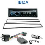 Poste 1-DIN CD/USB/Bluetooth Seat Ibiza de 2002 à 2008 - autoradio JVC et Kenwood au choix