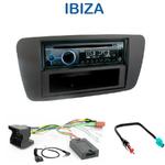 Poste 1-DIN CD/USB/Bluetooth Seat Ibiza depuis 06/2008 - autoradio JVC et Kenwood au choix