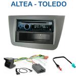Poste 1-DIN CD/USB/Bluetooth Seat Altea depuis 04/2004, Altea XL depuis 09/2006 & Toledo de 04/2004 à 06/2009 - autoradio JVC et Kenwood au choix