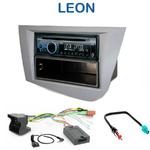 Poste 1-DIN CD/USB/Bluetooth Seat Leon de 09/2005 à 2010 - autoradio JVC et Kenwood au choix