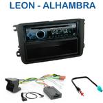 Poste 1-DIN CD/USB/Bluetooth Seat Leon de 03/2009 à 10/2012 & Alhambra depuis 10/2010 - autoradio JVC et Kenwood au choix