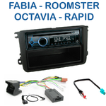Poste 1-DIN CD/USB/Bluetooth Skoda Fabia, Roomster, Octavia & Rapid - autoradio JVC et Kenwood au choix