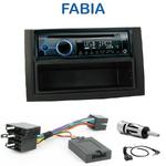 Poste 1-DIN CD/USB/Bluetooth Skoda Fabia de 01/2003 à 12/2006- autoradio JVC et Kenwood au choix