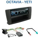 Poste 1-DIN CD/USB/Bluetooth Skoda Octavia II de 04/2004 à 12/2008 & Yeti depuis 2009 - autoradio JVC et Kenwood au choix