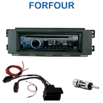 Poste 1-DIN CD/USB/Bluetooth Smart ForFour de 01/2004 à 06/2006 - autoradio JVC et Kenwood au choix