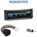 Poste 1-DIN CD/USB/Bluetooth Smart Roadster de 04/2003 à 11/2005 - autoradio JVC et Kenwood au choix