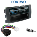 Poste 1-DIN CD/USB/Bluetooth Smart ForTwo de 2007 à 08/2010 - autoradio JVC et Kenwood au choix
