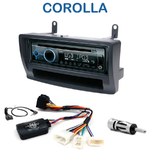 Poste 1-DIN CD/USB/Bluetooth Toyota Corolla de 01/2002 à 2007 - autoradio JVC et Kenwood au choix