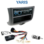 Poste 1-DIN CD/USB/Bluetooth Toyota Yaris de 1999 à 2003 - autoradio JVC et Kenwood au choix