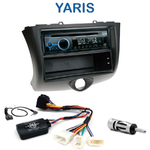 Poste 1-DIN CD/USB/Bluetooth Toyota Yaris de 2003 à 2006 - autoradio JVC et Kenwood au choix