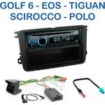 Poste 1-DIN CD/USB/Bluetooth Volkswagen Caddy Eos Golf 5 et 6 Jetta Passat Polo Scirocco Tiguan Touran Beetle Sharan et Amarok - autoradio JVC et Kenwood au choix