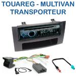 Poste 1-DIN CD/USB/Bluetooth Volkswagen Multivan, Caravelle, Transporter & Touareg - autoradio JVC et Kenwood au choix