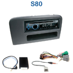 Poste 1-DIN CD/USB/Bluetooth Volvo S80 de 1998 à 2007 - autoradio JVC et Kenwood au choix