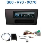 Poste 1-DIN CD/USB/Bluetooth Volvo S60 de 2001 à 2004 & V70 de 2000 à 2004 - autoradio JVC et Kenwood au choix