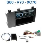 Poste 1-DIN CD/USB/Bluetooth Volvo S60 de 2004 à 2006 & V70 à partir de 2005 - autoradio JVC et Kenwood au choix