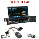 Autoradio Alpine BMW Série 3 E46 - Station 1-din avec écran tactile 17.5 cm rétractable, GPS Bluetooth optionnels - IVA-D511RB ou IVA-D511R au choix