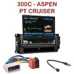 Autoradio Alpine Chrysler PT Cruiser 300C Aspen - Station 1-din avec écran tactile 17.5 cm rétractable - IVA-D511RB ou IVA-D511R au choix