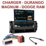 Autoradio Alpine Dodge Charger, Durango, Magnum RAM - Station 1-din avec écran tactile 17.5 cm rétractable - IVA-D511RB ou IVA-D511R au choix