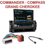 Autoradio Alpine Jeep Commander Compass Patriot et Grand Cherokee - Station 1-din écran tactile 17.5 cm rétractable - IVA-D511RB ou IVA-D511R au choix