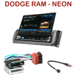 Autoradio Alpine Dodge RAM et Neon - Station 1-din avec écran tactile 17.5cm rétractable, GPS  Bluetooth optionnels - IVA-D511RB ou IVA-D511R au choix