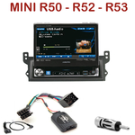 Autoradio Alpine Mini Cooper One et Cabriolet - 1-din écran tactile 17.5cm rétractable, GPS et Bluetooth optionnels - IVA-D511RB ou IVA-D511R au choix
