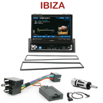 Autoradio Alpine Seat Ibiza de 2002 à 2008 - Station 1-din écran tactile 17.5cm, GPS et Bluetooth optionnels - IVA-D511RB ou IVA-D511R au choix