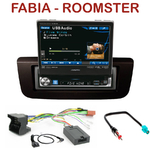 Autoradio Alpine Skoda Fabia Roomster - Station 1-din avec écran tactile 17.5 cm, GPS & Bluetooth optionnels - IVA-D511RB ou IVA-D511R au choix