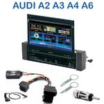 Autoradio 1-DIN GPS écran motorisé Audi A2 de 2000 à 2005, A3 de 2000, A4 de 1999 à 2001 & A6 de 1997 à 2000 et depuis 2003 - NZ502E