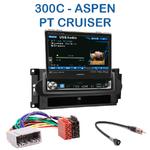 Autoradio 1-DIN GPS écran motorisé Chrysler PT Cruiser, 300C & Aspen - NZ502E