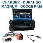 Autoradio 1-DIN GPS écran motorisé Dodge Charger, Durango, Magnum & Ram - NZ502E