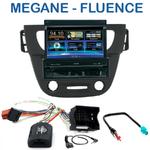 Autoradio 1-DIN GPS écran motorisé Renault Megane III depuis 11/2008 & Fluence depuis 2009 façade grise ou noire) - NZ502E