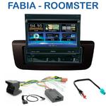 Autoradio 1-DIN GPS écran motorisé Skoda Fabia depuis 2007 & Roomster depuis 09/2006 - NZ502E