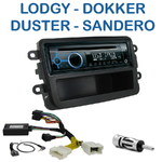 Poste 1-DIN CD/USB/Bluetooth Dacia Duster, Dokker, Lodgy & Sandero - autoradio JVC et Kenwood au choix