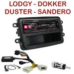 Autoradio Alpine Dacia Duster, Dokker, Lodgy & Sandero - UTE-72BT, UTE-92BT, CDE-173BT, CDE-190R, CDE-193BT ou CDE-195BT au choix