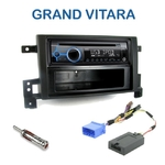 Poste 1-DIN CD/USB/Bluetooth Suzuki Grand Vitara depuis 09/2005 - autoradio JVC et Kenwood au choix