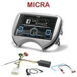 Autoradio 2-DIN Alpine Nissan Micra de 2011 à 2013 - CDE-W235BT, CDE-W296BT, IVE-W560BT, IVE-W585BT OU ICS-X8 AU CHOIX