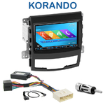 Autoradio 2-DIN GPS NX302E, NX405E, NX505E ou NX706E Ssangyong Korando de 2010 à 2013